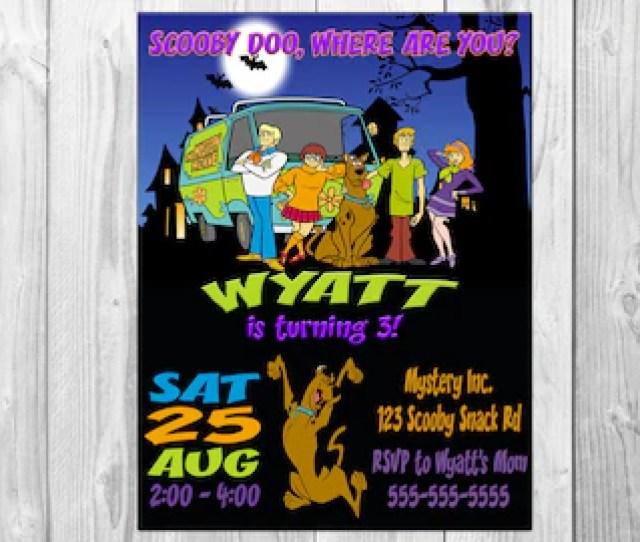 Scooby Doo Birthday Party Invitations Scooby Doo Party Scooby Doo Invitation Scooby Doo Invite