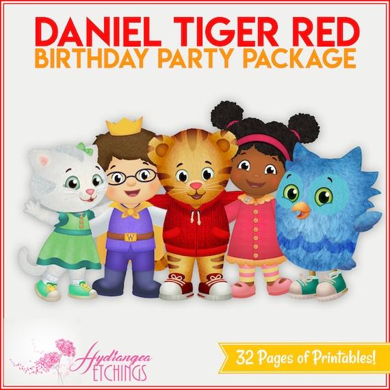 Daniel Tiger Birthday Party Package Red Boy Daniel Tiger Etsy