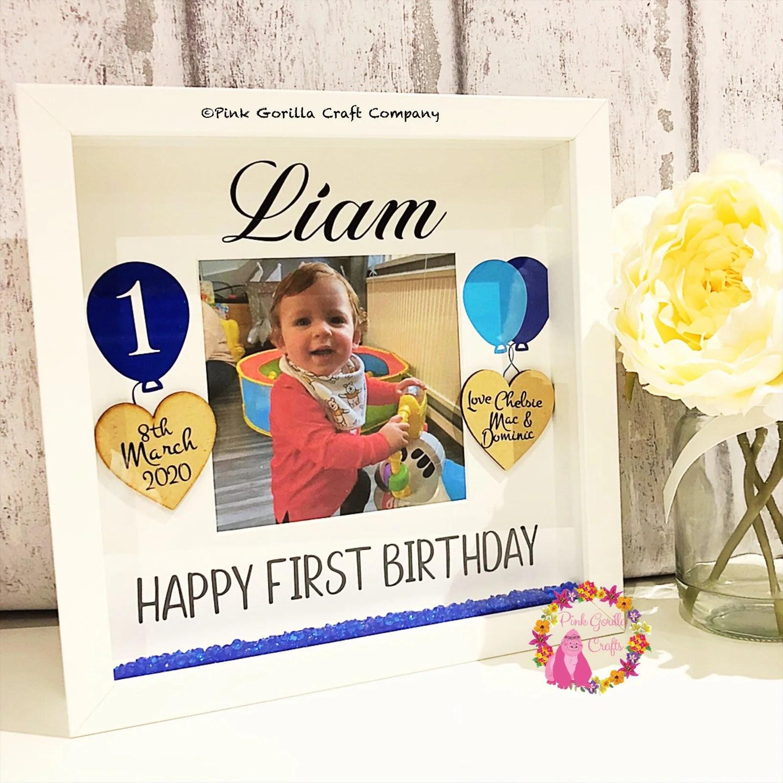 Birthday Frame 1st Birthday Frame First Birthday Gift Etsy
