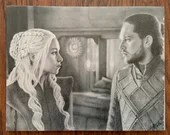 Daenerys Targaryen and Jon Snow Canvas Print