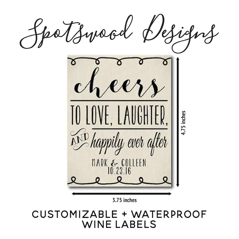 Download Cheers To Love Laughter and Happily Ever After Custom | Etsy