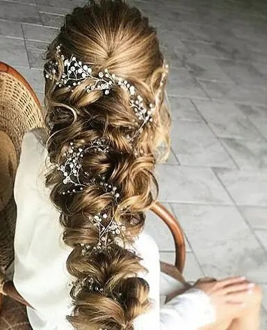crystal and pearl hair vine babys breath hair piece wedding hair accessories wedding hair vine bridal hair vine bridal hair accessories