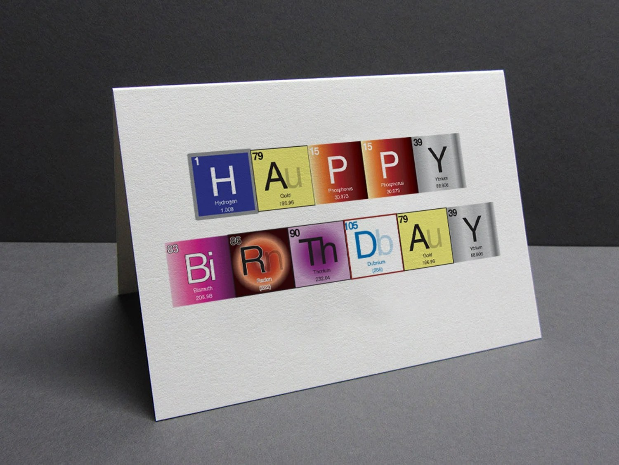 Periodic Table Card Greeting Card Happy Birthday Etsy