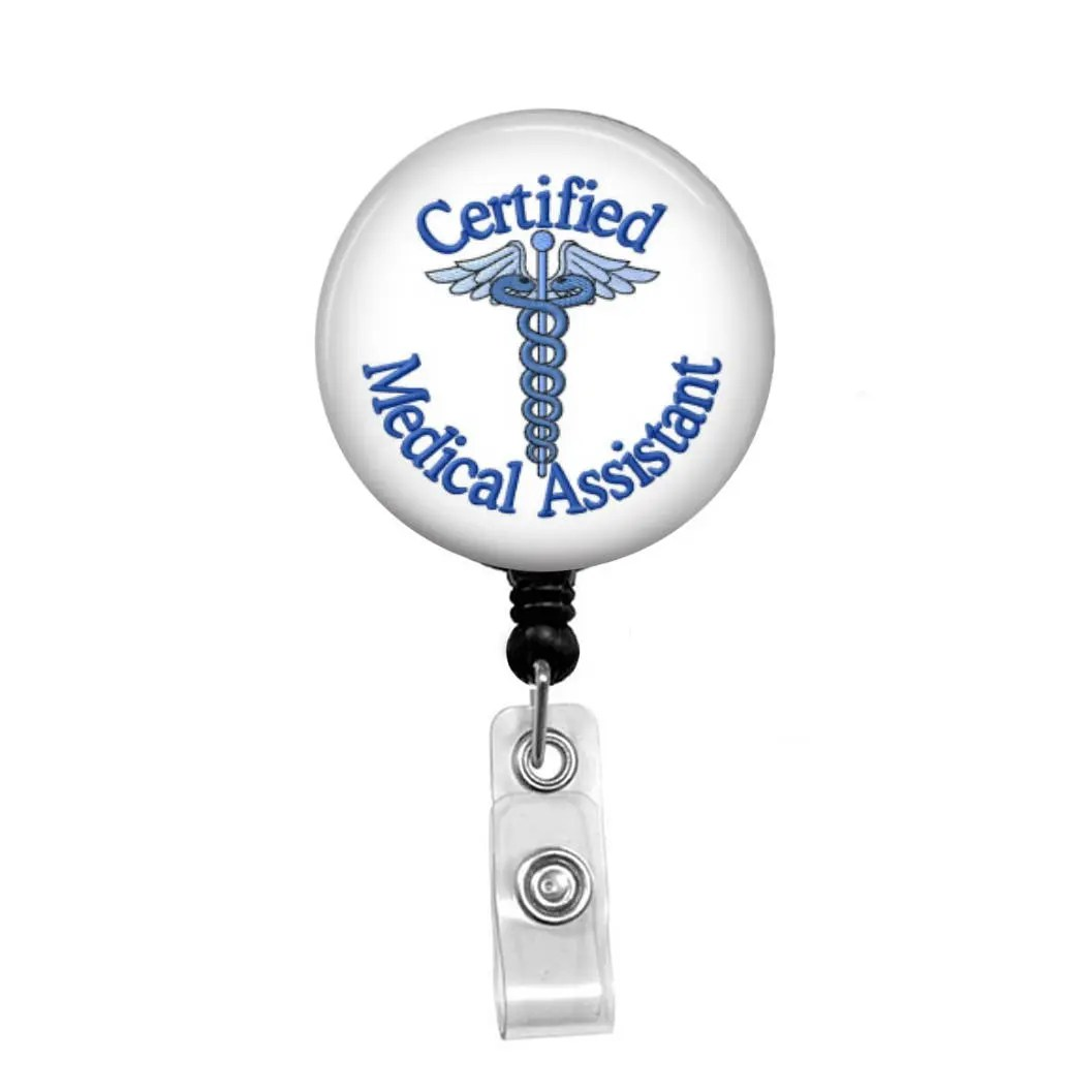 Certified Medical Assistant 1 Cma Badge Reel Retractable