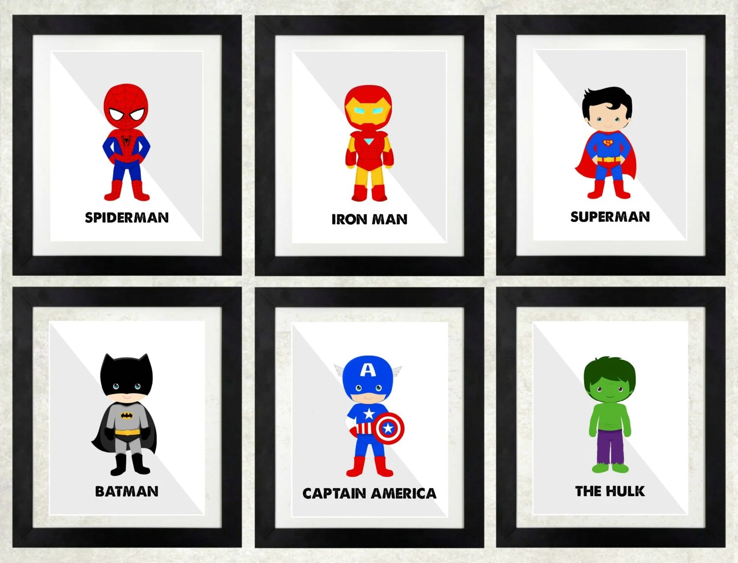 Superhero Printables Superheroes Superhero Wall Art