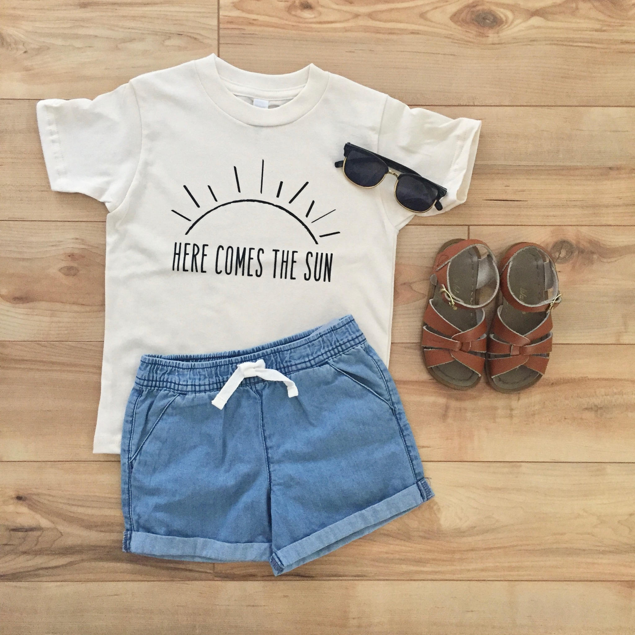 Here Comes The Sun Organic Kids Clothes Kids Tshirt Youth