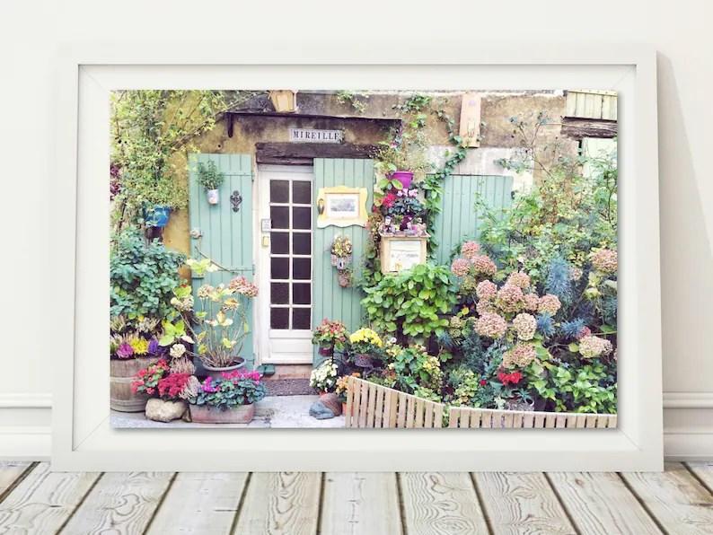 Rustikale Tür Druck Französisch Garten Foto Digital Download Etsy