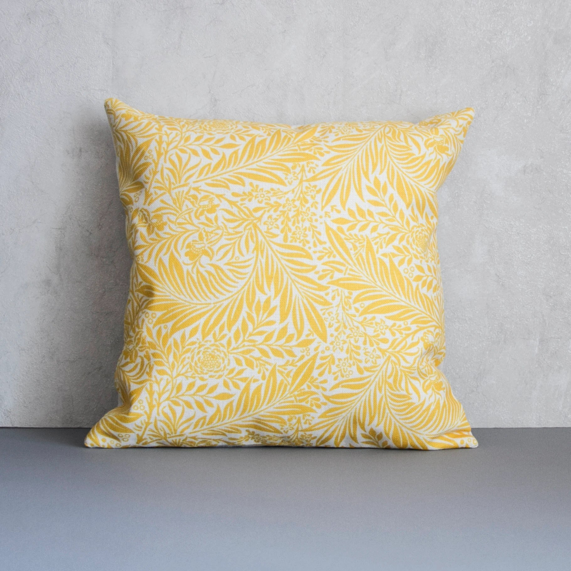 yellow pillow cover yellow floral pattern throw pillow flower pattern decorative pillow cover cushion cover