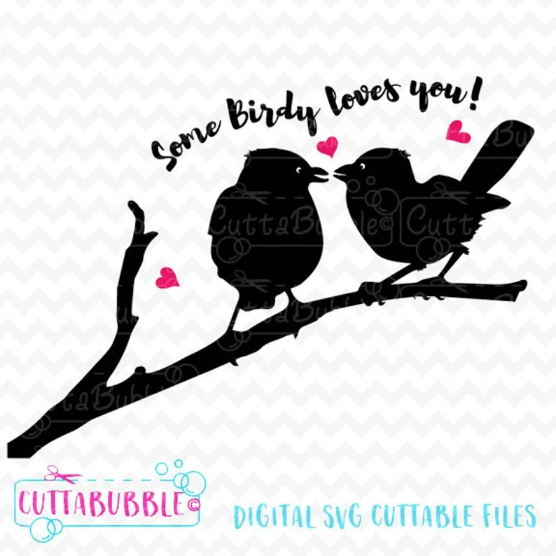 Download Love Birds SVG cut file PNG DXF for Silhouette cameo   Etsy