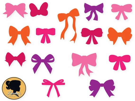Download Bows SVG and DXF Cut File for Silhouette Shaped Bow | Etsy