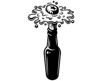 Download Beer bottle svg   Etsy