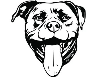 Download Pitbull svg | Etsy