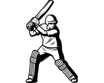 Download Cricket bat and ball | Etsy