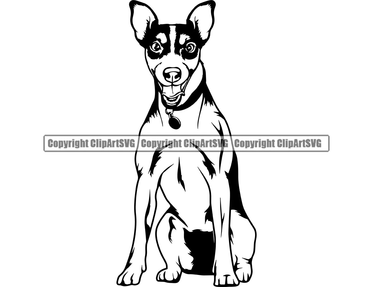 Jack Russell Terrier Dog Sit Sitting Breed Happy Smile Paw