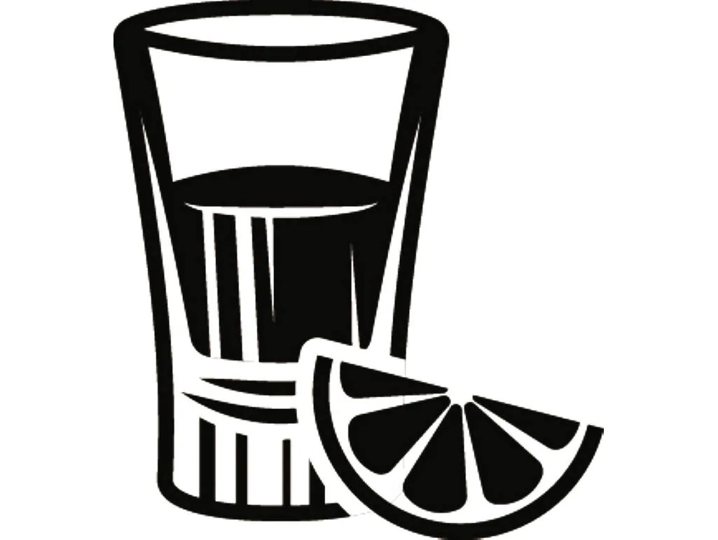 Shot Glass 1 Mixed Drink Alcohol Liquor Ice Bar Pub Tavern