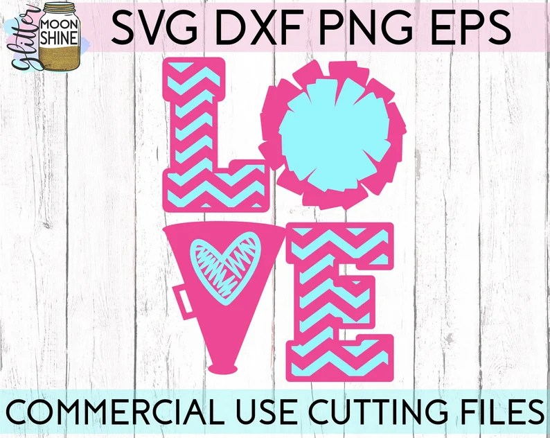 Download Cheer Love svg eps dxf png cutting files for silhouette ...