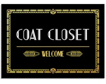 Coat Closet Sign Etsy