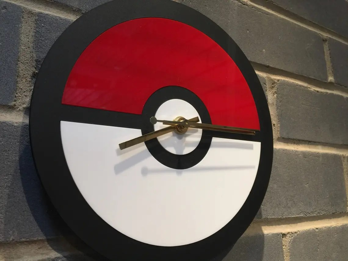Pokeball Wall Clock
