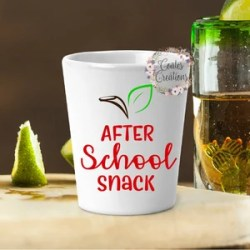 Funny Shot Glass After School Snack Teacher Gift Gag Etsy