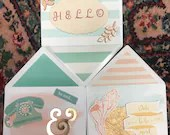 3 blank handmade greeting cards
