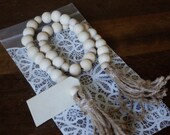 Wooden bead Garland with ...