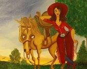 Rodeo Queen on canvas