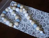 Wooden Bead Garland with Gold, Gray& White spacers