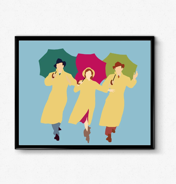 singing in the rain poster debbie reynolds poster minimalist movie print movie poster