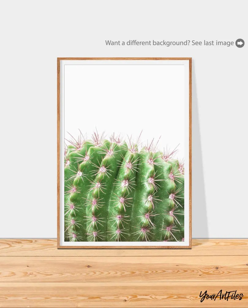 Cactus Wall Art Cactus Digital Printable Art Green Wall Art Botanical Print Instant Download Printable Cactus Home And Apartment Decor