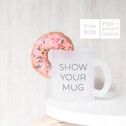 11oz Frosted Mug Mockup Psd Smart Object 11oz Glass Mug Etsy