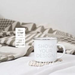 10oz Camp Mug Mockup Psd Smart Object Show Your Design Etsy