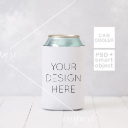 Can Cooler Styled Mockup Psd Smart Object Layers Image For Etsy