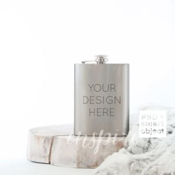 Stainless Steel Sublimation Hip Flask Mockup Psd Smart Etsy