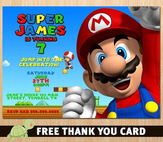 Free Printable Super Mario Bros Invitations Inviwall