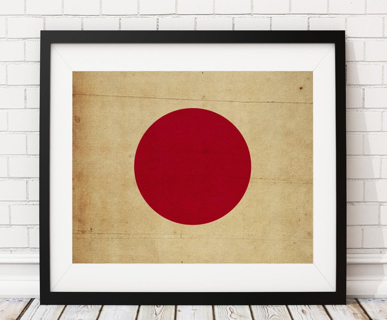 Japan Flag Art Japan Flag Print Japanese Flag Poster
