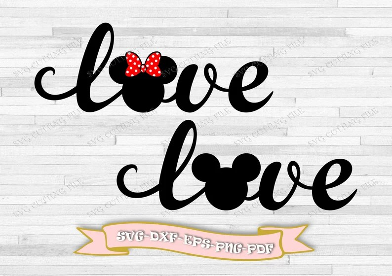 Download Love Mickey mouse svg love Minnie mouse svg clip art ...