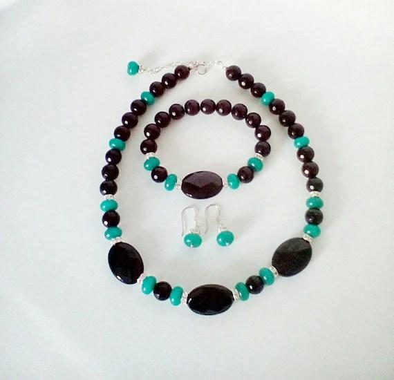 Agate Jewellery Set