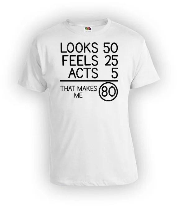80th Birthday T Shirt Birthday Present For Him Bday Gift Ideas Etsy