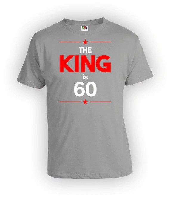 60th Birthday Shirt Custom Gifts For Him Bday Present Etsy