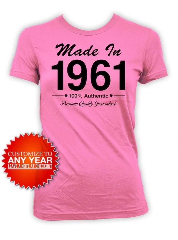 60th Birthday Shirt Bday Gift Ideas For Women Custom Birthday Etsy