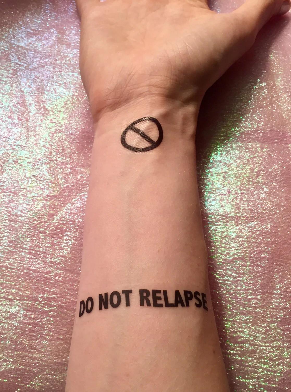 Self Harm Prevention Temporary Tattoos Mental Health