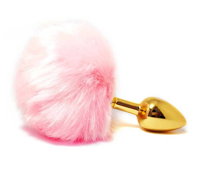 Pink Bunny Tail Butt Plug Adult Toy Sexy Erotic Beginner Anal Toys Tail Anal Plug Bdsm Toy Small Butt Plug Gold Plug Mature