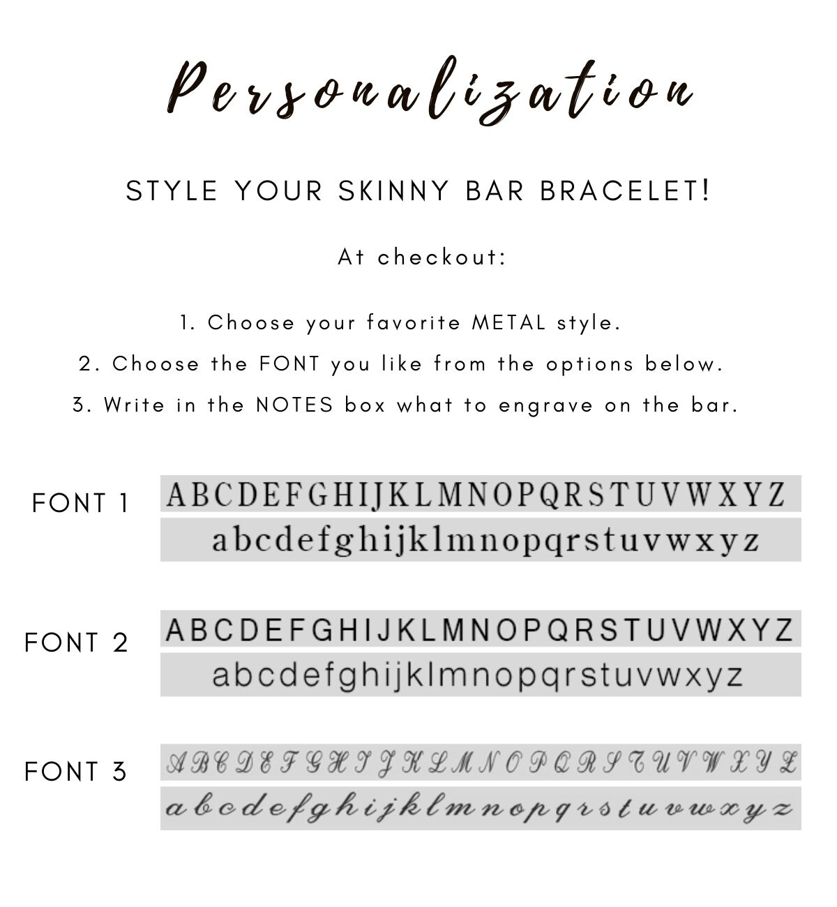 Gold Bar Bracelet Silver Bar Bracelet Personalized Bracelet image 3