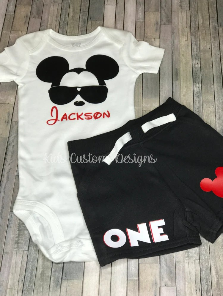 Mickey Mouse 1st Birthday T Shirt Shop Clothing Shoes Online