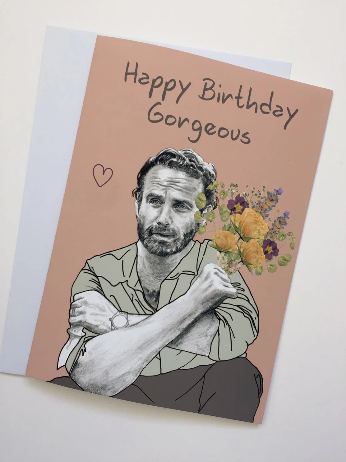 Walking Dead Andrew Lincoln Rick Grimes A5 Birthday Card Etsy