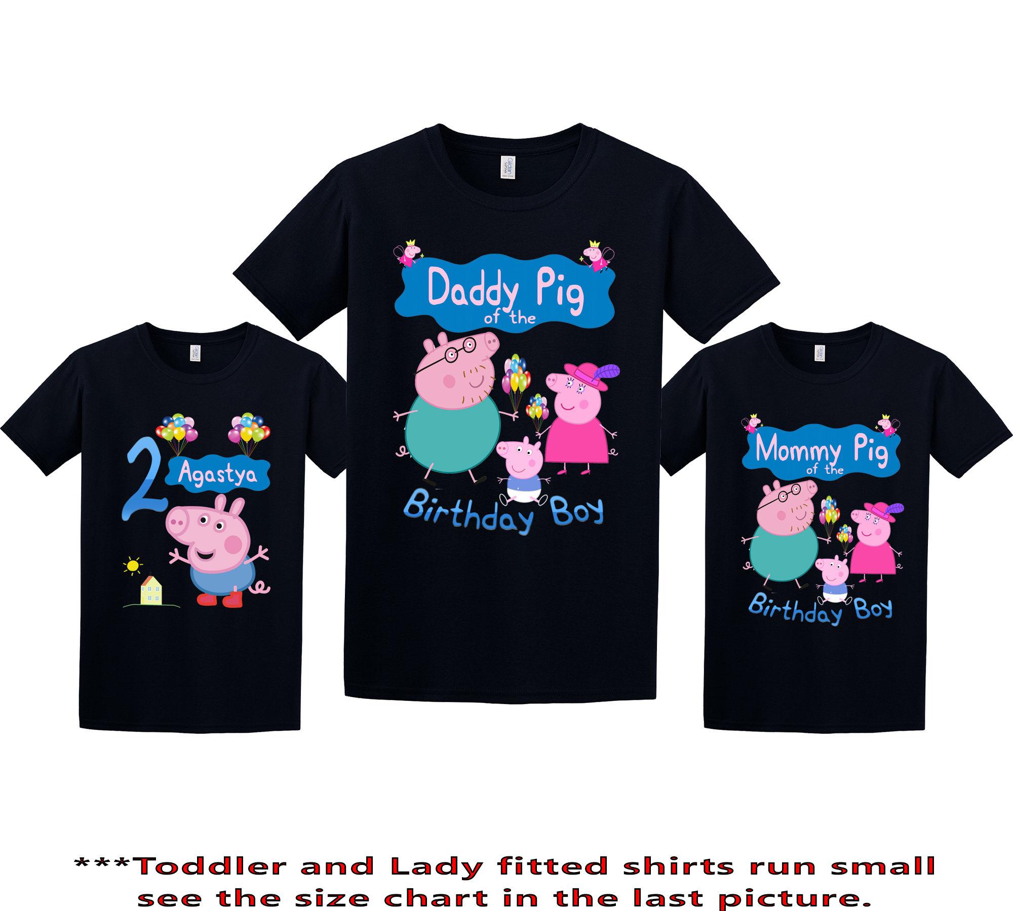 Peppa Pig Birthday Shirt Peppa Pig Custom Shirt Personalized Etsy