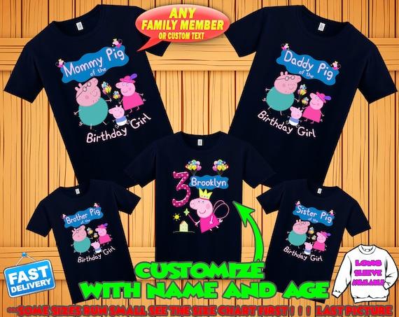 Peppa Pig Birthday Shirt George Pig Birthday Tshirt Peppa Etsy
