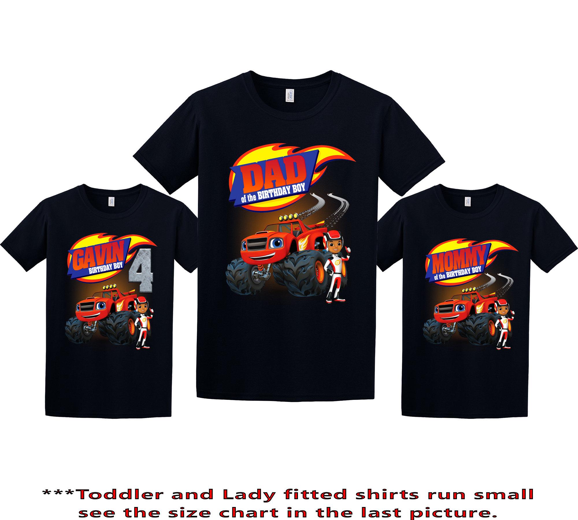 Blaze Birthday Shirt Blaze And The Monster Machines Custom Etsy