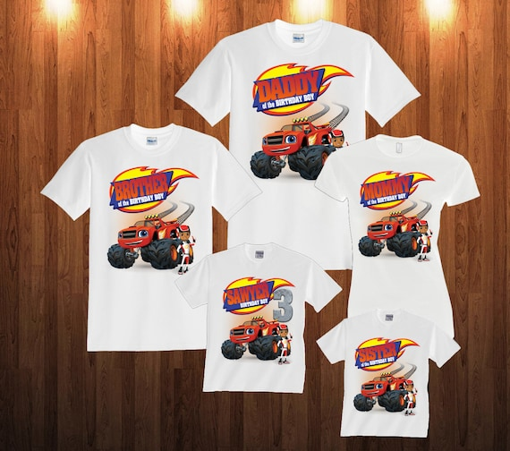 Blaze And Monster Machines Birthday Long Sleeve And Short Etsy