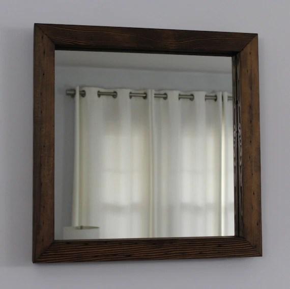 rustic reclaimed wood mirror square 20x20 distressed wood frame mirror square rustic mirror salvaged wood bathroom mirror vanity mirror